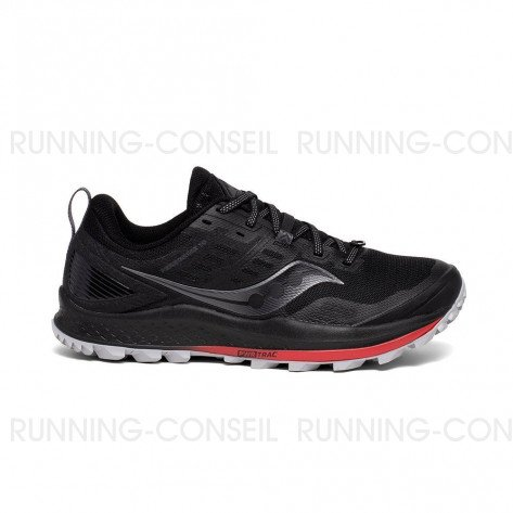 SAUCONY PEREGRINE 10 Homme - Black | red