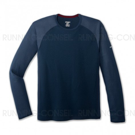 BROOKS Tee-Shirt Manches Longues Stealth Homme | indigo