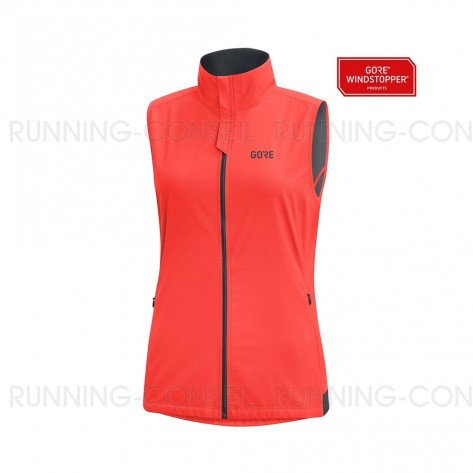 GORE® R3 GORE WINDSTOPPER GILET FEMME | LUMI ORANGE | Collection Printemps-Été 2019