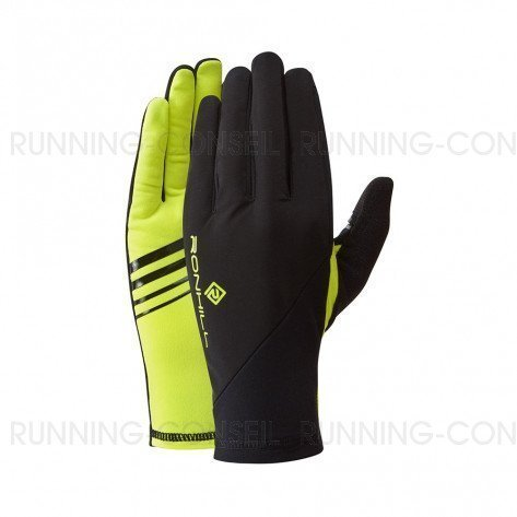 RONHILL Gants Wind-Block   Black / Fluo Yellow