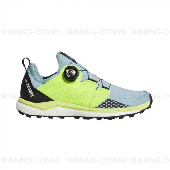 Chaussure de running ADIDAS TERREX AGRAVIC BOA Femme Gris ...