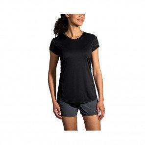BROOKS TEE-SHIRT MANCHES COURTES STEALTH FEMME | BLACK