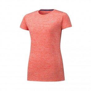 MIZUNO Tee-Shirt manches courtes IMPULSE CORE Femme | Hot Coral | Collection Printemps-Été 2019