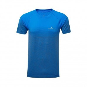 RONHILL T-SHIRT MANCHE COURTE INFINITY MARATHON S/S Homme | ELECTRIC BLUE/GREY MARL